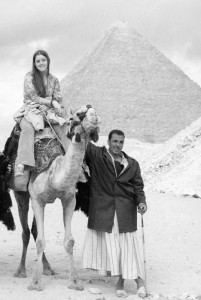 Gail at the Pyramids - 19 years old