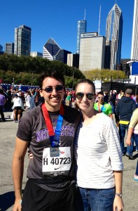 Bryan and I after the finish line